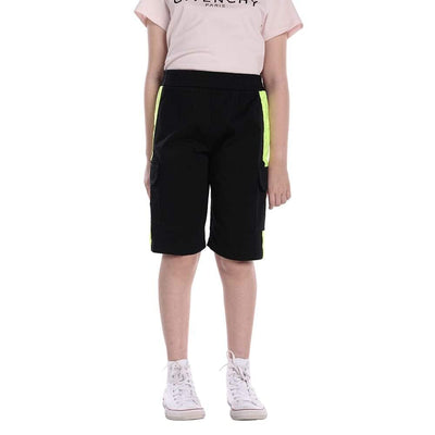 MONCLER KIDS BERMUDA COTTON STRETCH BLACK