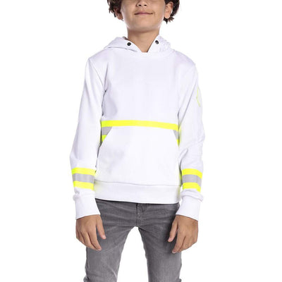 MONCLER KIDS SWEATSHIRT MOLLETON WHITE