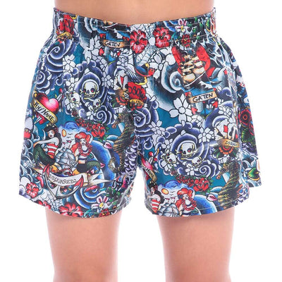 Dsquared2 Tattoo Graphic Shorts