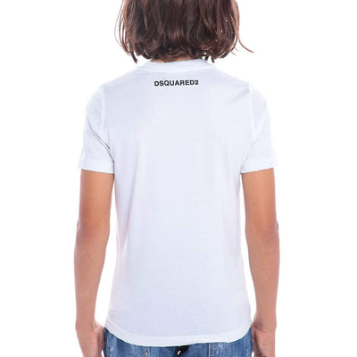 Dsquared2 White Abstract Print T-Shirt
