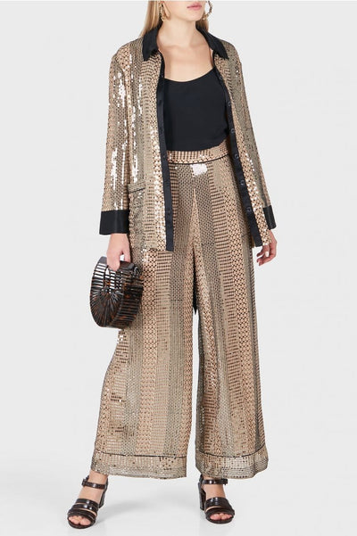 TEMPERLEY PLATINUM TROUSERS