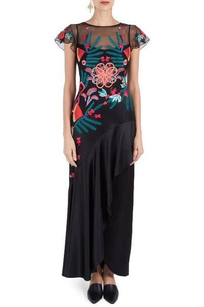 TEMPERLEY BOTANIST LONG DRESS