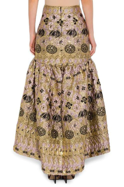 TEMPERLEY WOMEN TOWER JACQUARD LONG SKIRT