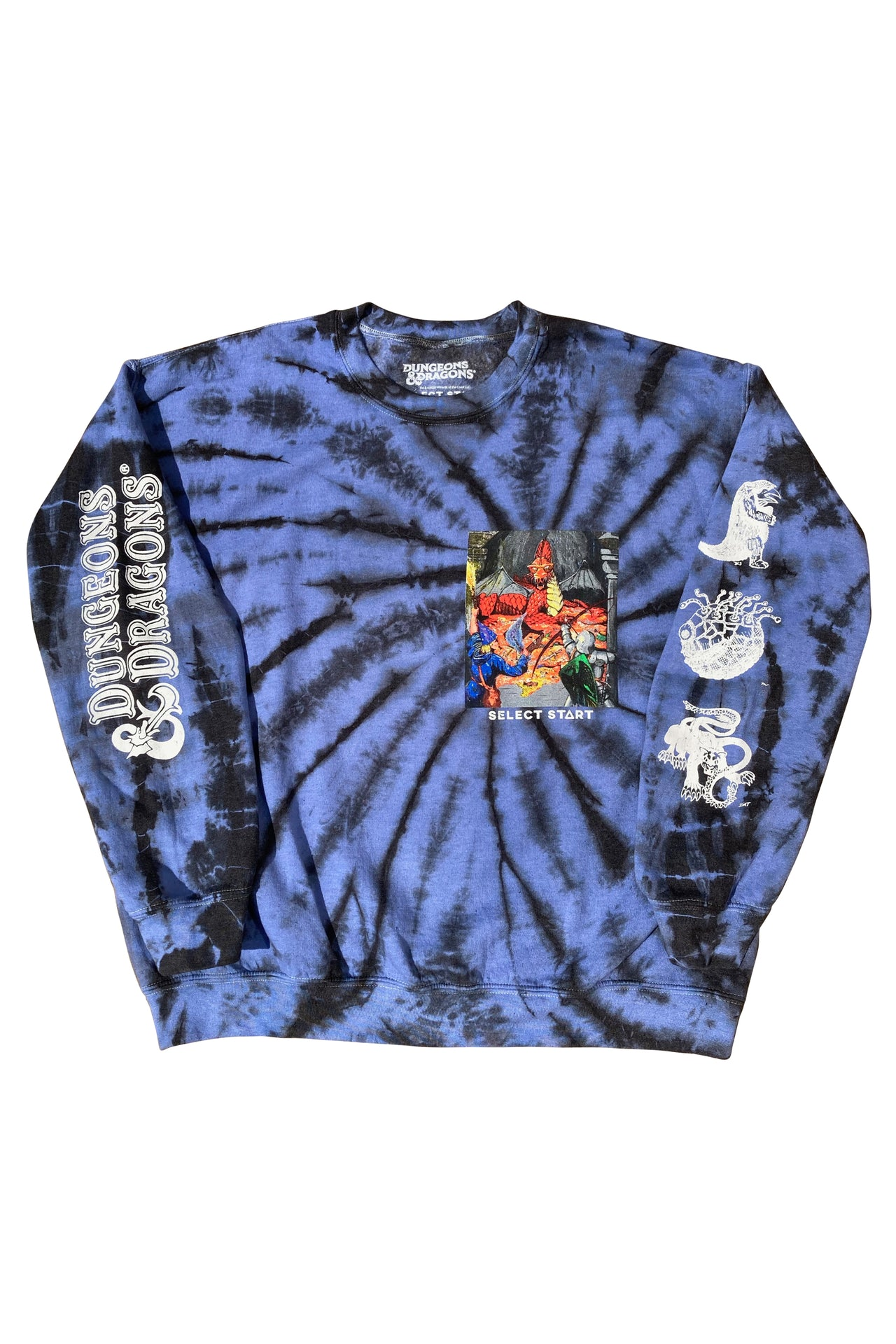 Dungeons & Dragons Tie Dye Crewneck - Select Start