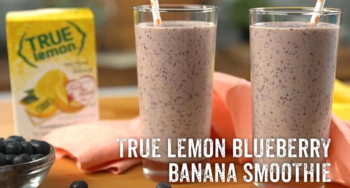 True Lemon Blueberry Banana Smoothie