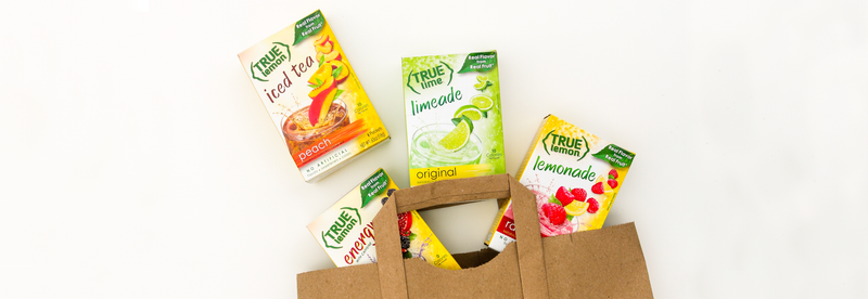 True Lime True Lemon and Iced Tea drink mixes