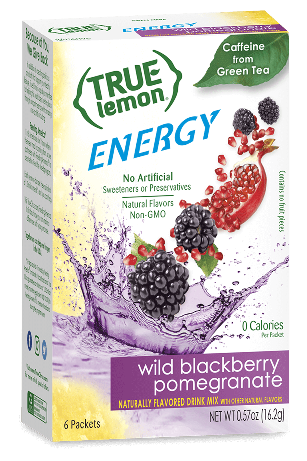 Energy Drink Mix Wild Blackberry Pomegranate True Citrus