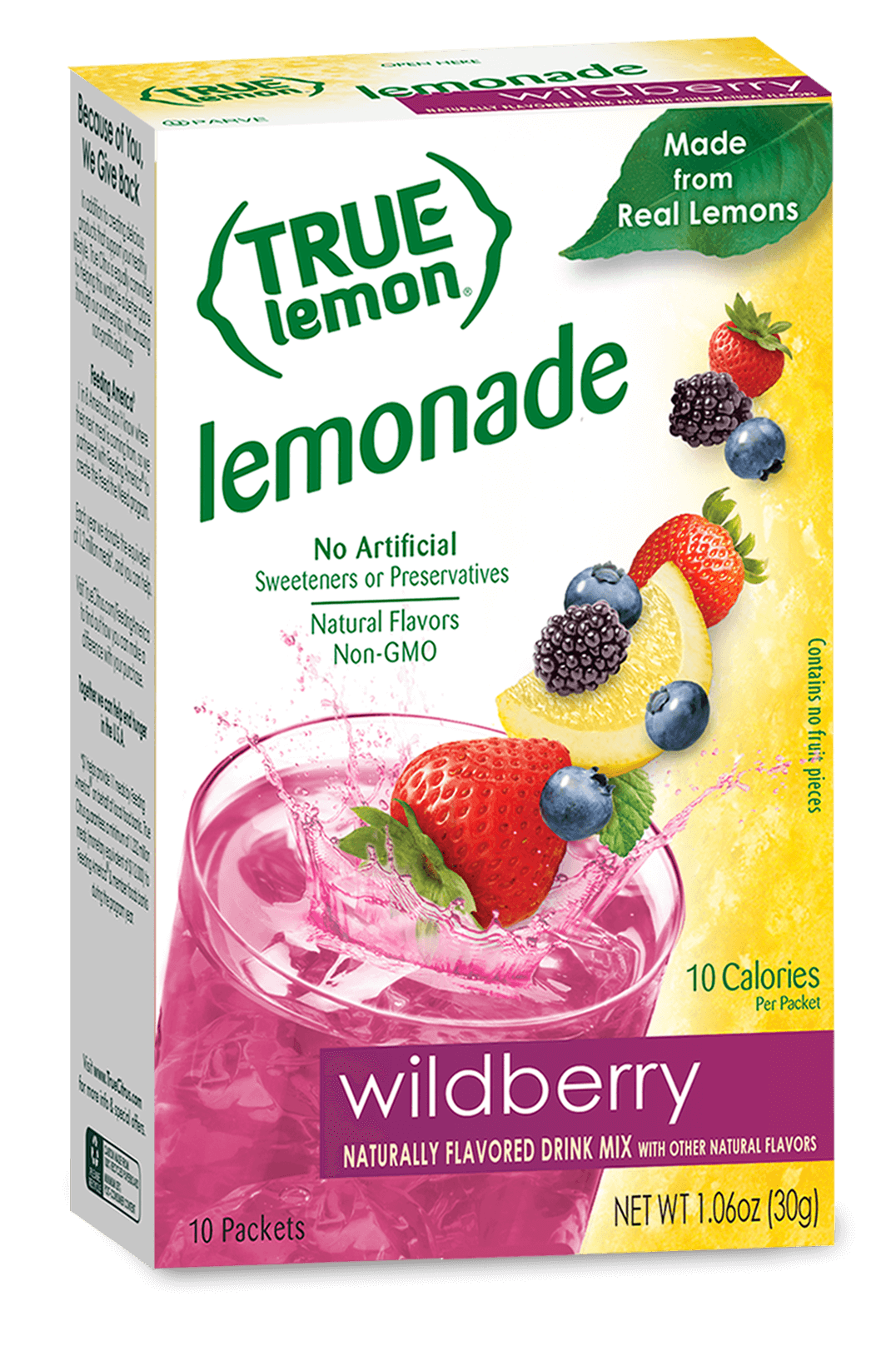 True Lemon Wildberry Lemonade Drink Mix True Citrus