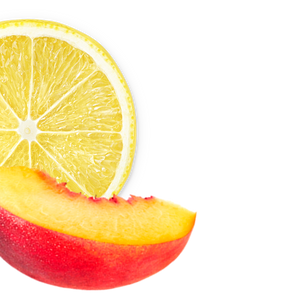 lemon-peach background image, left side