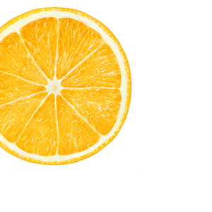 orange background image, left side