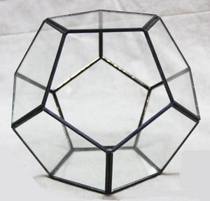 Table Dodecahedron Glass Terrarium
