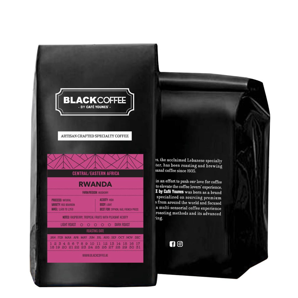 Black Coffee Rwanda Mushonyi coffee bean bag