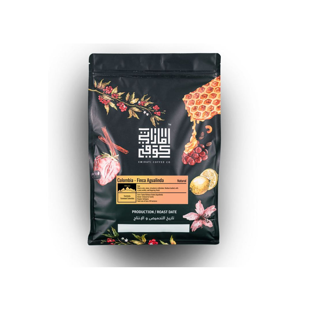 Finca Agualinda Natural Colombia coffee bean bag