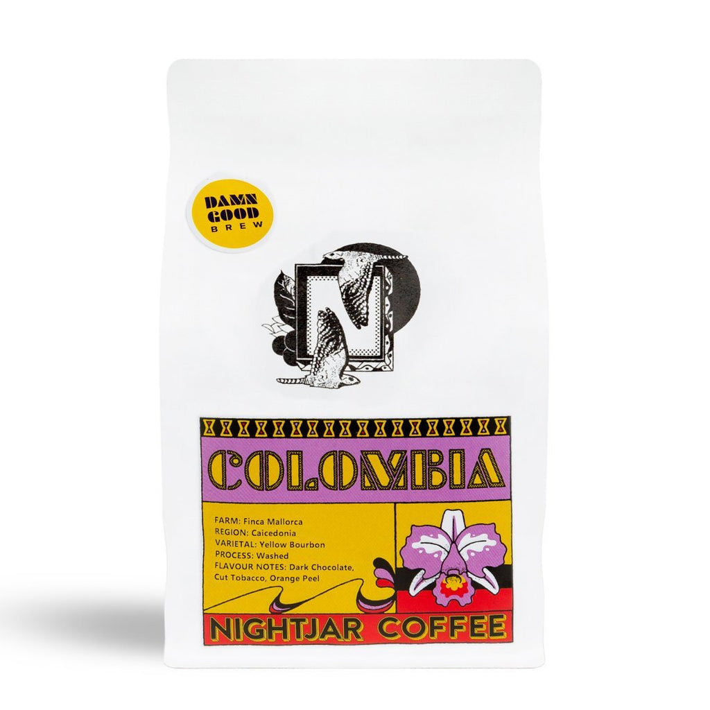 nightjar Colombia Finca Mallorca Washed coffee bean bag