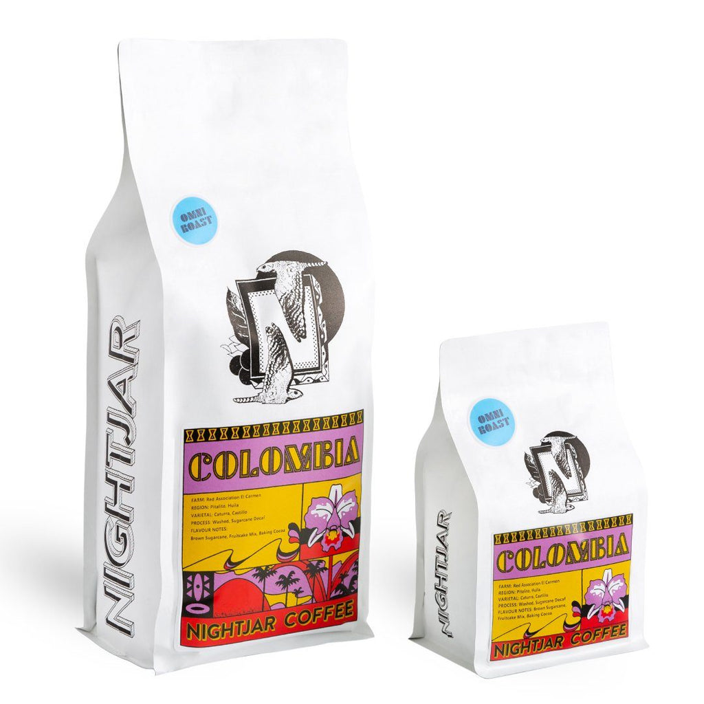 Colombia Red Association El Carmen Pitalito Decaf coffee bean bag