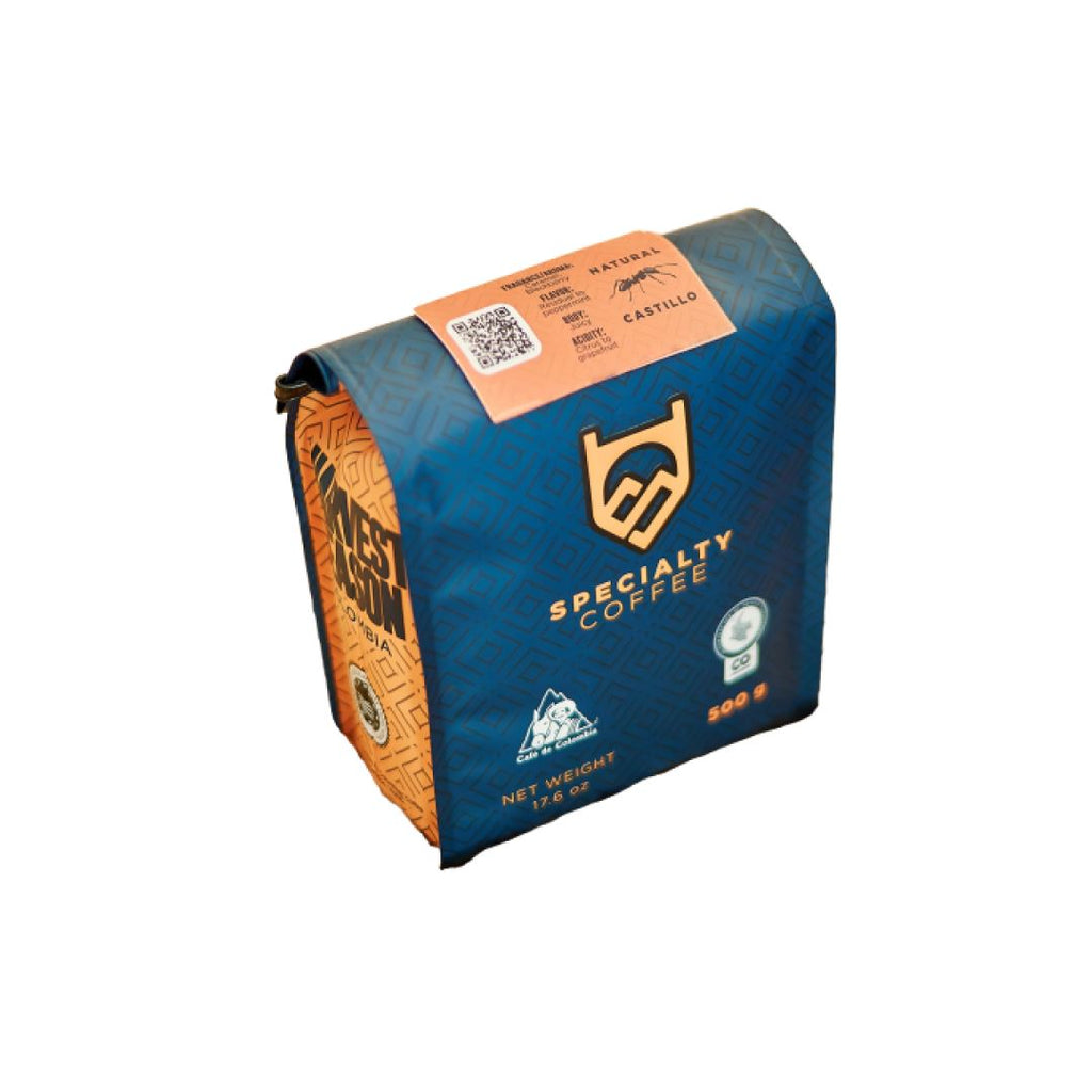 Colombia Natural Castillo coffee beans bag