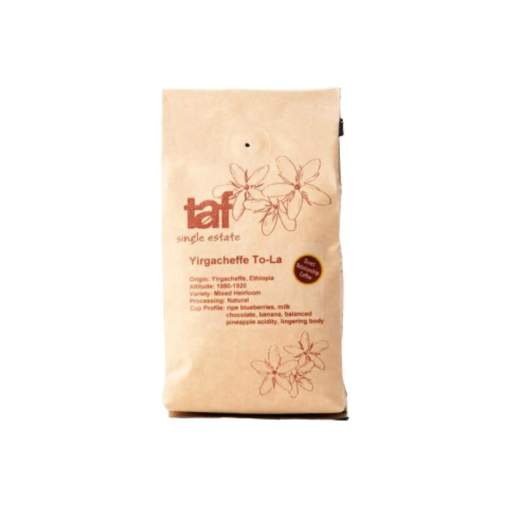 Yirgacheffe To LA coffee bean bag