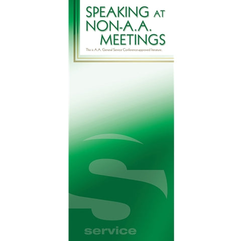 SPEAKING AT NON-AA MEETINGS