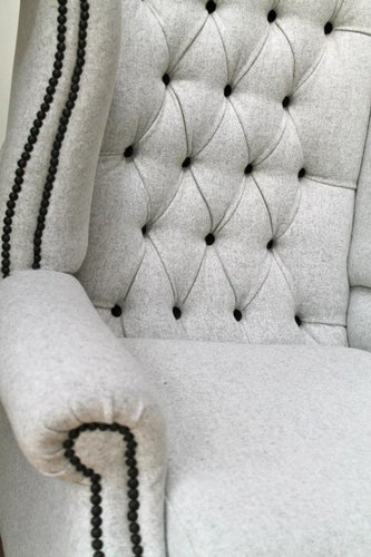 Gentleman's deep button chair