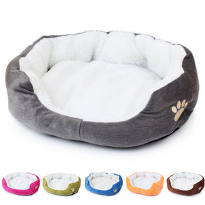 Soft Cat Bed Warm Winter House for Cat Dog