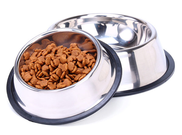 Stainless steel dog bowl food feeder Outdoor bowl