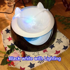 Automatic Luminous Pets Water Fountain USB Electric Water Dispenser Drinking Bowls