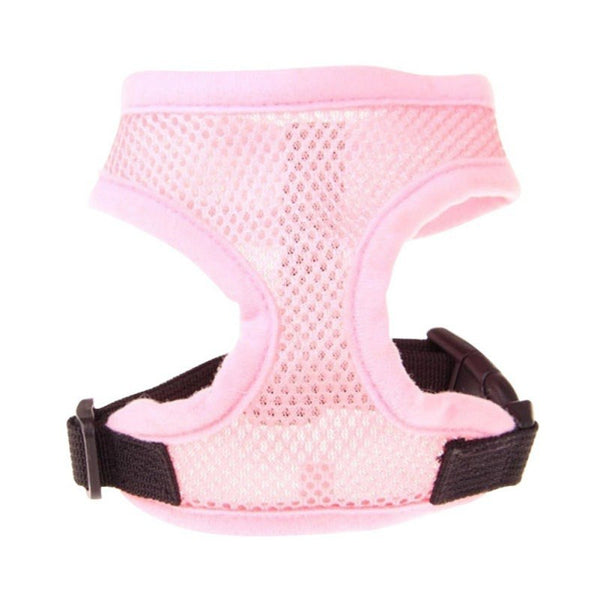 Adjustable Soft Breathable Dog Harness Nylon Mesh Vest Harness for Dogs Puppy Collar Pet Dog Chest Strap Leash