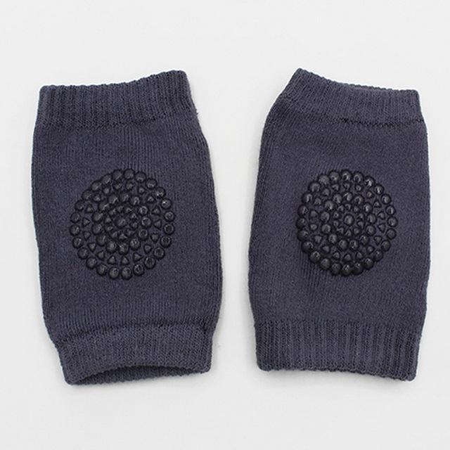 Hippomoo Dark Grey Baby Cotton Knee Pads