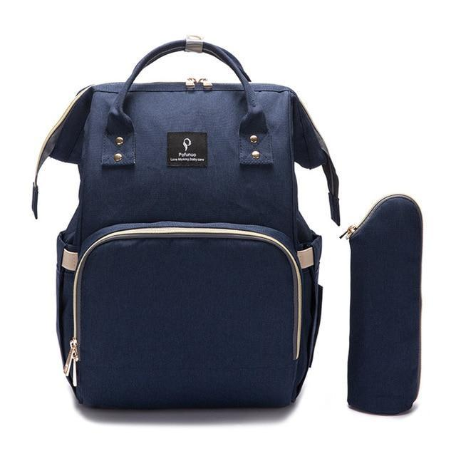 Hippomoo Diaper Bag Dark Blue USB Diaper Bag