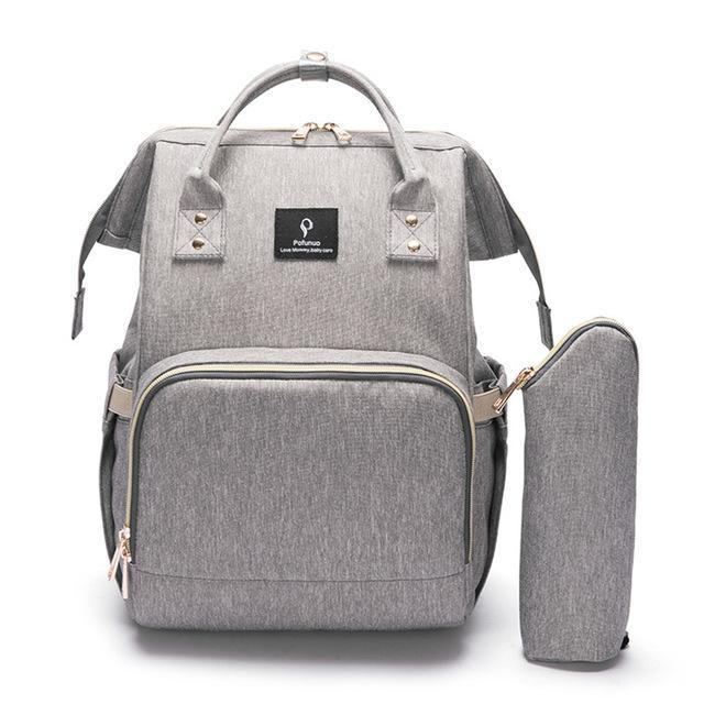 Hippomoo Diaper Bag Grey USB Diaper Bag