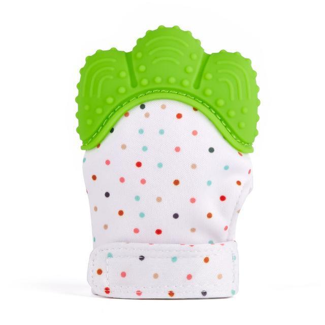 Hippomoo Green Baby Teething Mitten