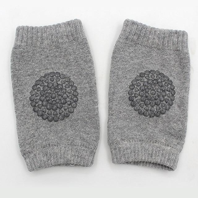 Hippomoo Grey Baby Cotton Knee Pads