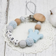 Hippomoo Pacifier Clip Light Blue Personalized Pacifier Clip