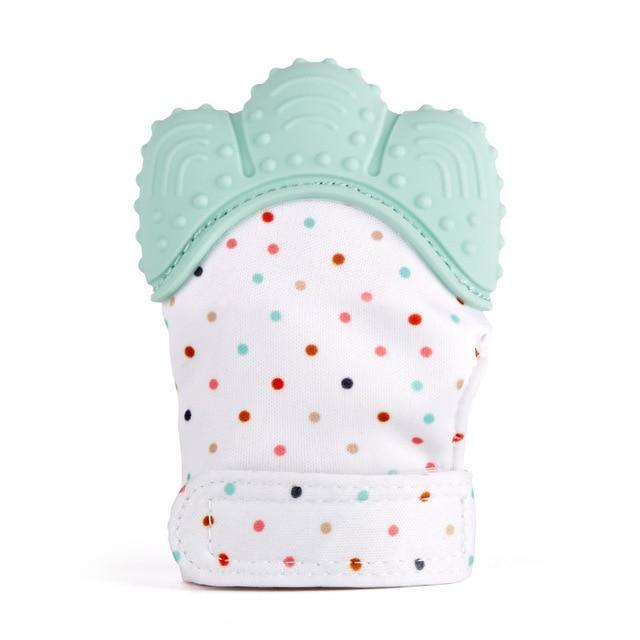 Hippomoo Mint Baby Teething Mitten