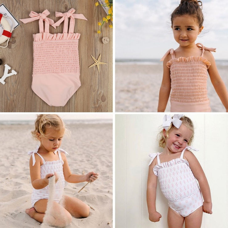 Bowtie Strap Swimsuit for Baby Girl | Hippomoo