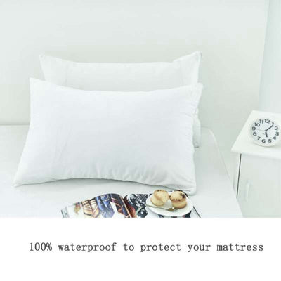 2 Piece Anti-Allergen Waterproof Pillow Protector | Hippomoo