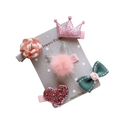Handmade Sweet Hair Clips (5 pieces/set)
