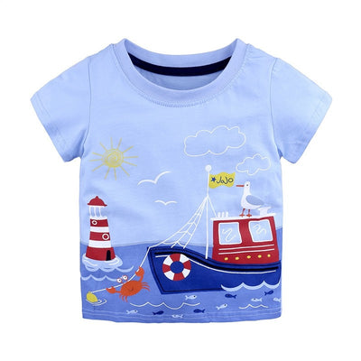 Boy Transportation Fun T-Shirt - Baby's Wardrobe | Hippomoo