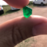TOP Class Rough Emeralds Crystal Pair (2 Pieces) from Swat Valley Pakistan Nice Luster