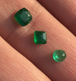 GORGEOUS Natural 1.2 ct Panjshir Emerald Super Green color Natural loose Emerald 3 PCS