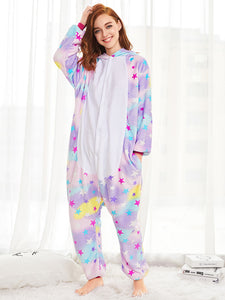 Allover Stars Plush Unicorn Onesie