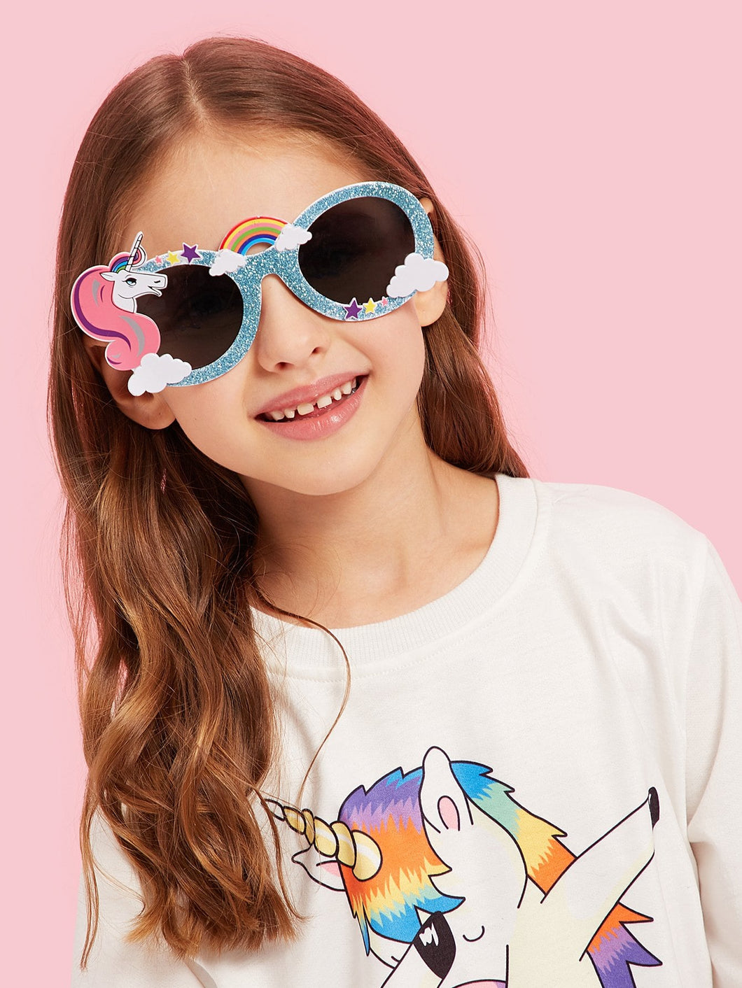 Girls Unicorn Frame Sunglasses