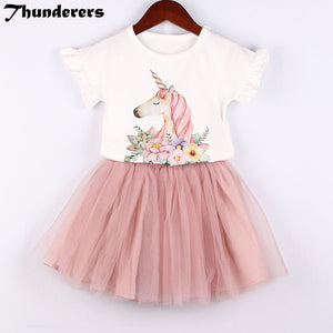 Children's suits  magical unicorn pattern