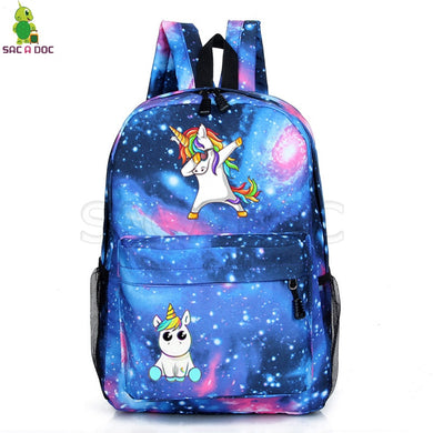 Unicorn Backpacks Teenager School back pack