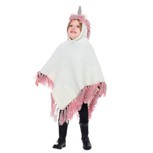 2019 Cute Children Unicorn Knitted Hat Pashmina
