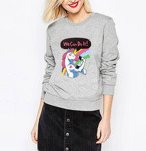 printed hoodies female women's Unicorn sweatshirts