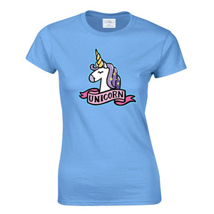 Unicorn TShirt Summer Cute  Casual Short Sleeve Soft T Shirt