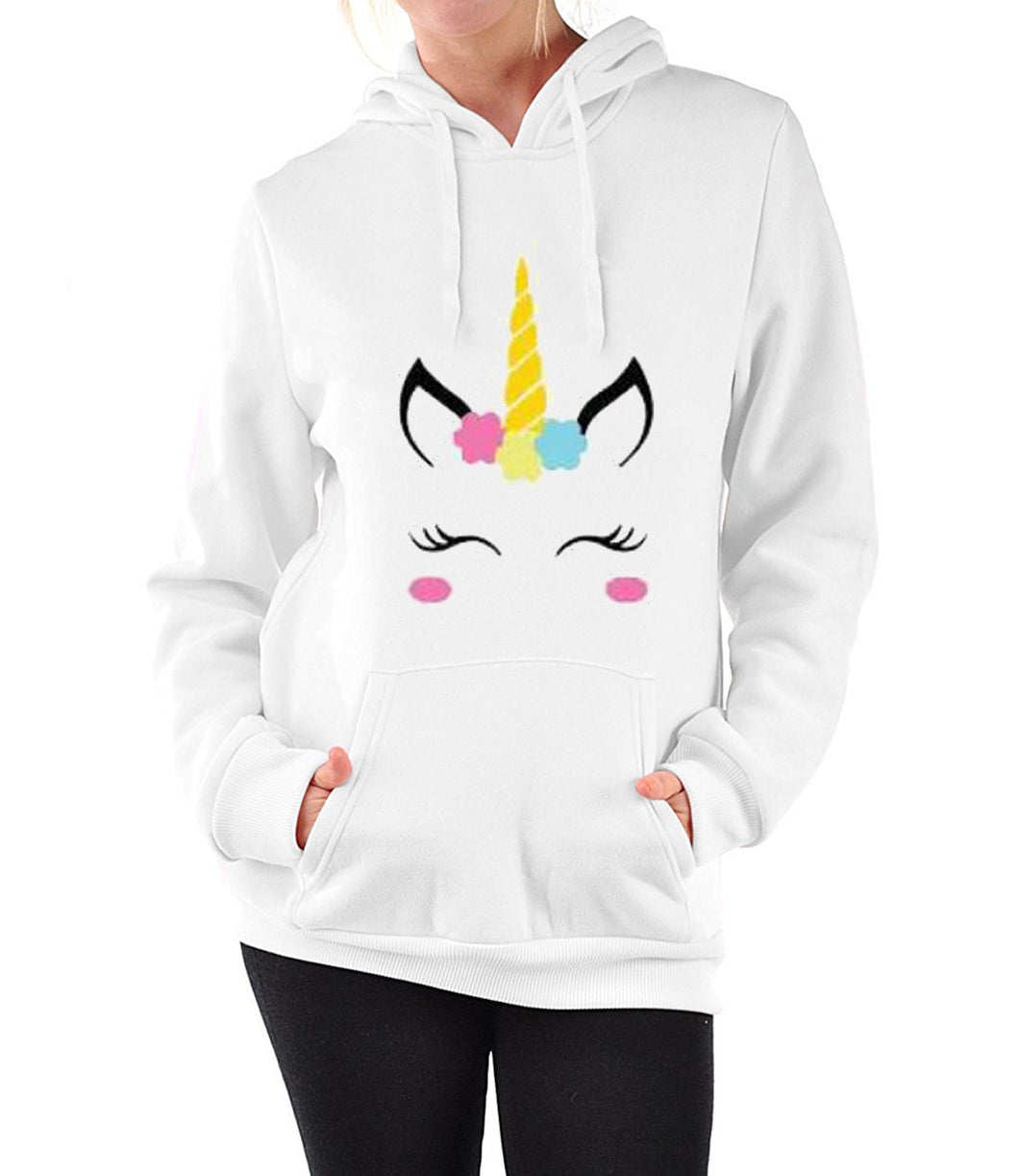White Hoodies Women Unicorn Hoodie Sweatshirt