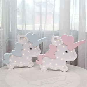 Nordic unicorn lamp Wall Decoration Battery LED