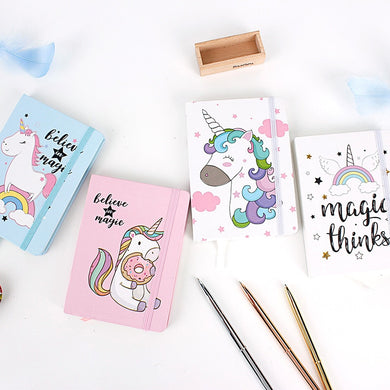 Hard Cover A5 Cartoon Unicorn Notepad Office Stationery